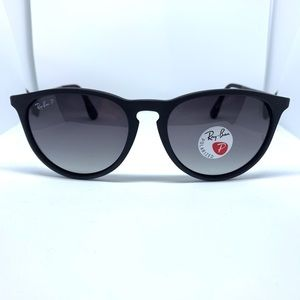 Ray Ban Erika Matte Black Sunglasses Polarized